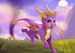Mischievous purple Dragon