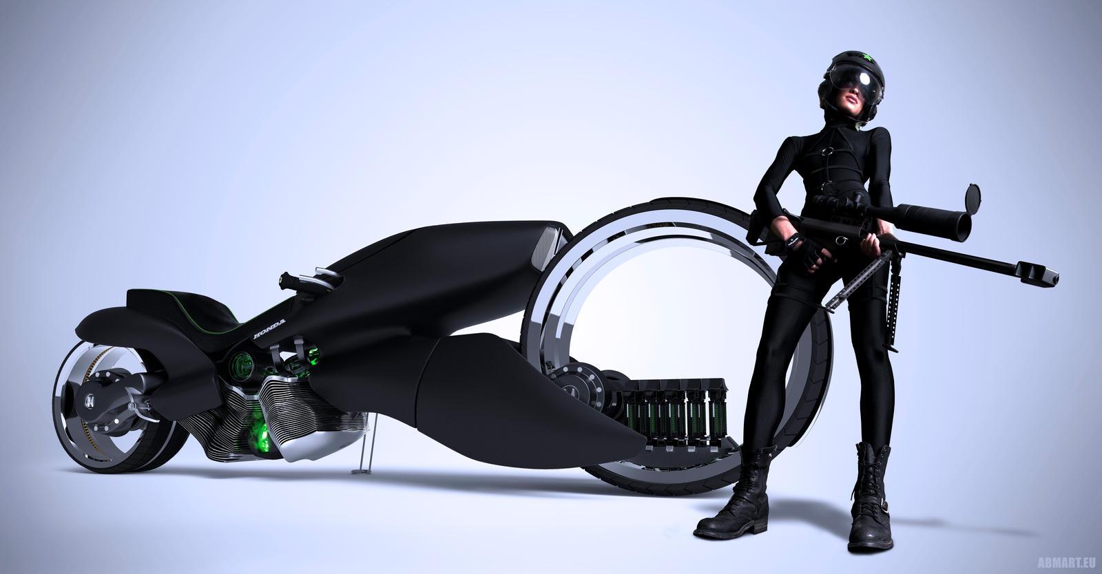 Honda motorbike 2029 by abmart