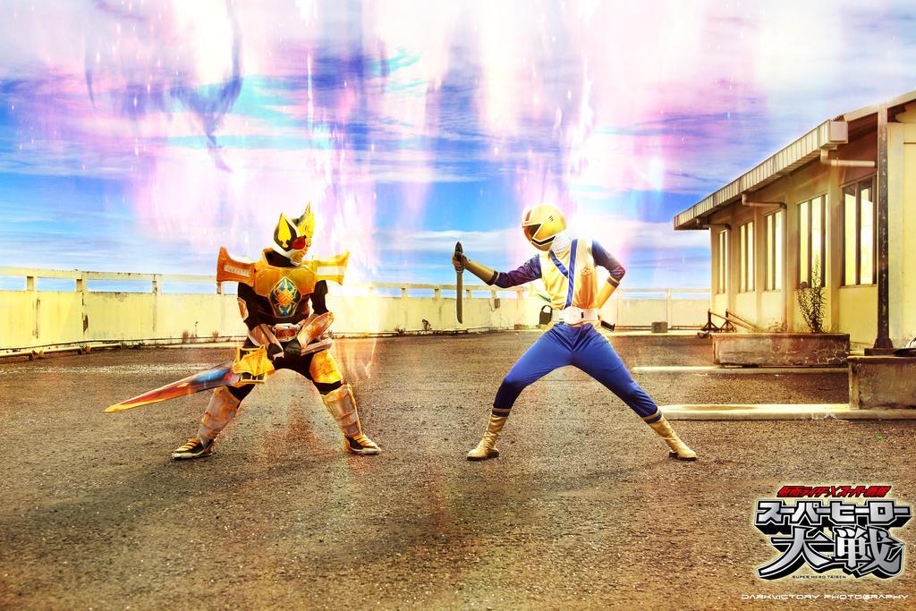 Kamen rider Blade versus Shinkenger Gold by haryadi ...