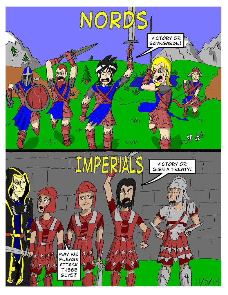 Skyrim- Nords vs. Imperials by RyanTheGreat777