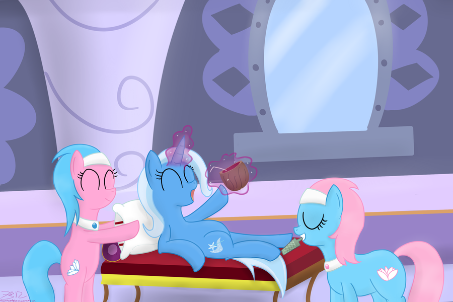 Trixie's Day Off by MikorutheHedgehog