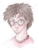 Traditional HP drawing- colour by o0muggledude0o