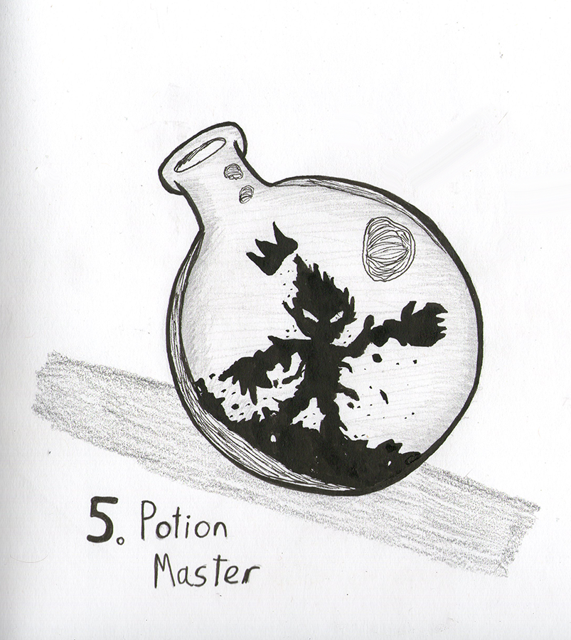 TonicTober Day 05 - Potion Master by Faulken