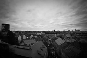 BW Zagreb panorama by hrvojemihajlic