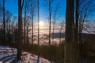 Winter sunset by hrvojemihajlic