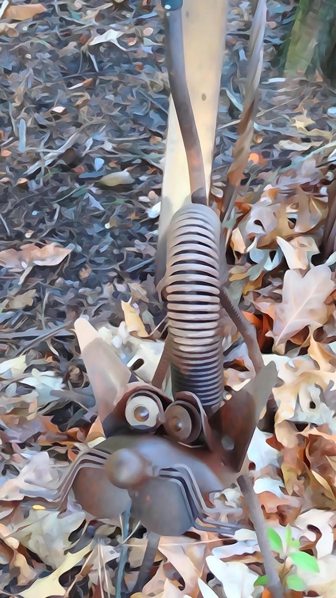 Metal Scrap Cat Attack by Ox3ArtStock