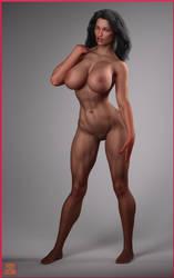 Amazona Negra desnuda By Nathanomir by Cityhunter77