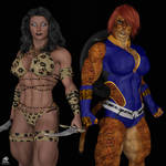 Amazona Negra y Tora By TrentHarlow by Cityhunter77