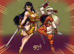 Lady Tigre y Chica Tigre By DarkShadowMD