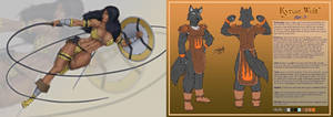 Amazona Negra Y Kyran Wolf