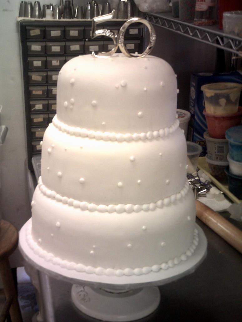 50th Wedding Anniversary Cake by Choppsey on DeviantArt
