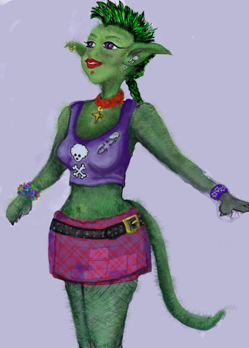 Punk Catgirl by sparkyrat