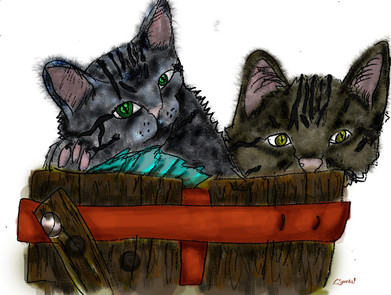 bucket o kittens by sparkyrat