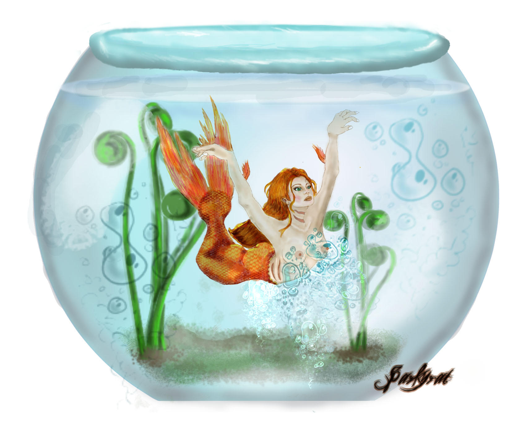 Trapped in a Fishbowl by sparkyrat