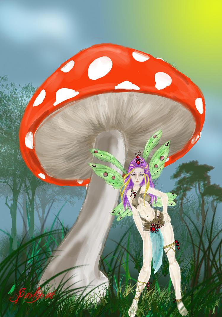 Soma, Mushroom Fairy by sparkyrat