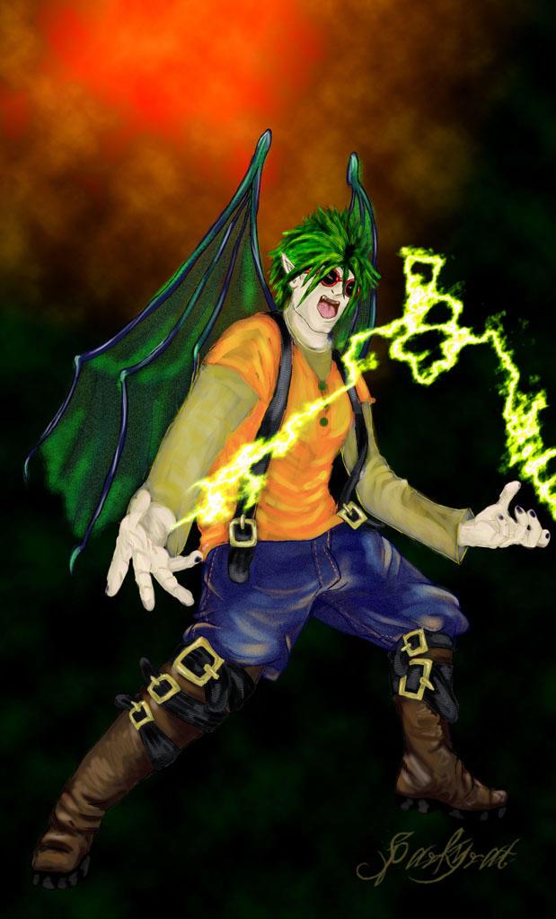 Gregor Male Lightening Fairy by sparkyrat
