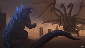Battle of Kings (Godzilla Fan Art)