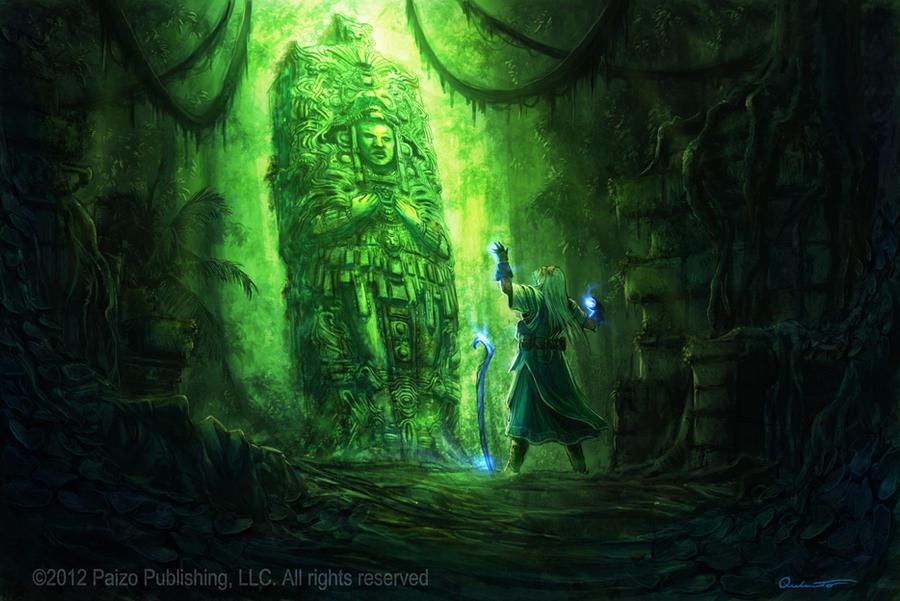 Pathfinder Wizard by Satibalzane