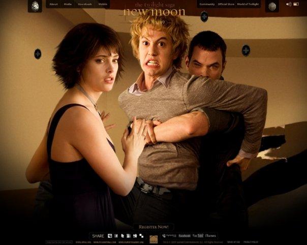 Alice Cullen, Jasper and Emmet Cullen- Ashley Greene, Jackson Rathbone, Kellan Lutz