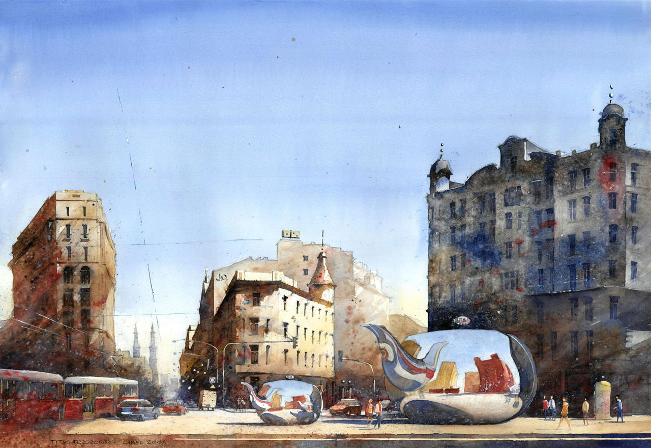 Unii Lubelskiej square in Warsaw. by tytusbrzozowski