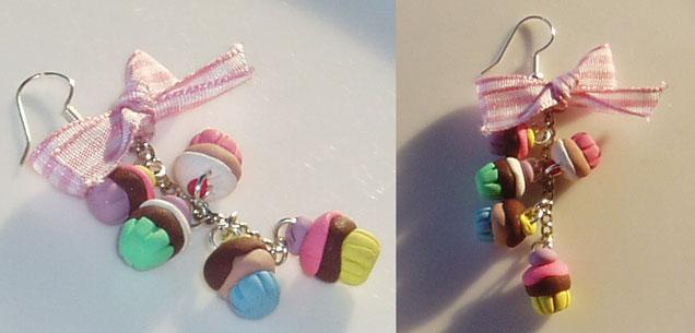 Teeny Tiny Cupcake Earring by Cinnamonster