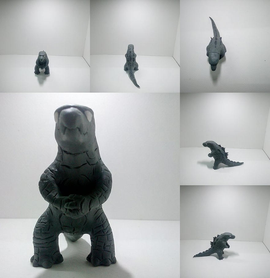(Clay) Gojira 2014 by dinosaurbook