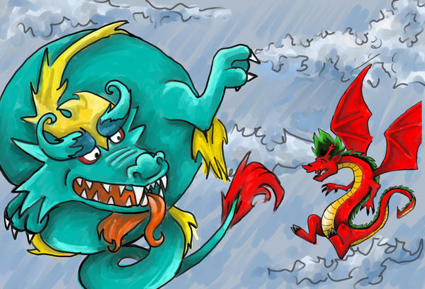Dragon Block by NsomniacArtist
