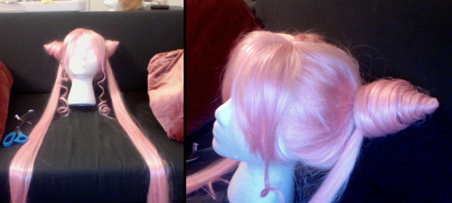 Chibiusa+Black Lady Wig by NsomniacArtist