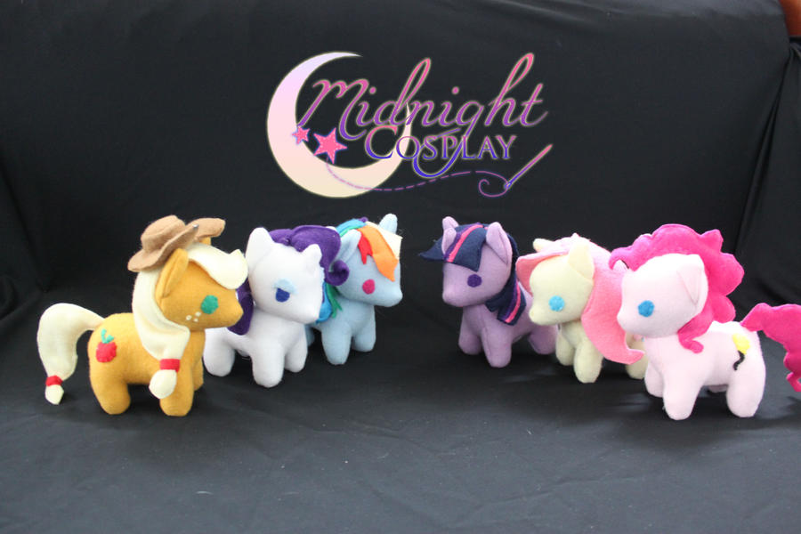 Mane 6 MLP plushies! by NsomniacArtist