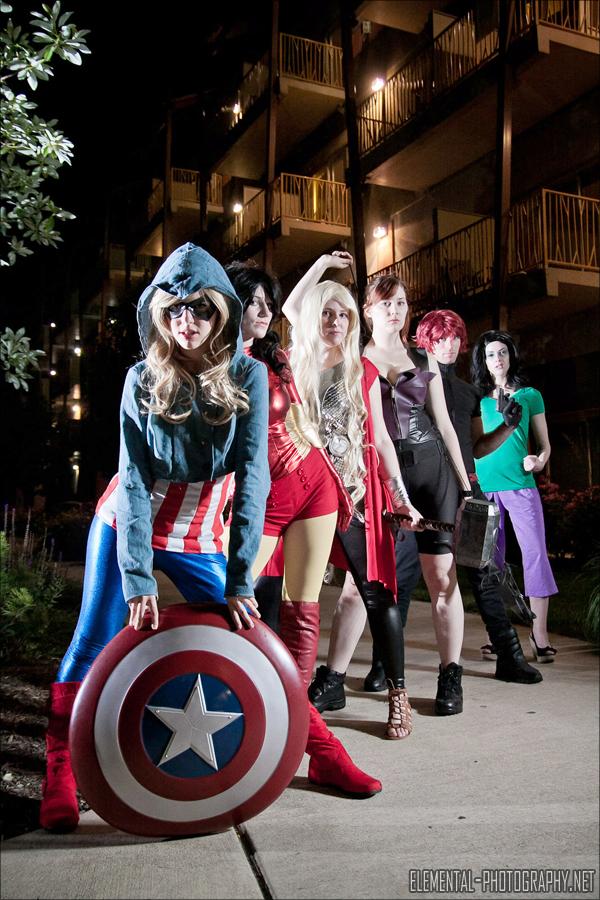 Avengers Genderbent Assembly by NsomniacArtist