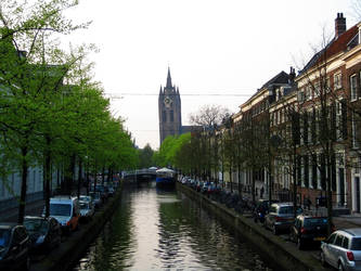 Delft Oude Kerk 'Old Church' by Jaanos