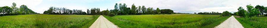 First panorama photo