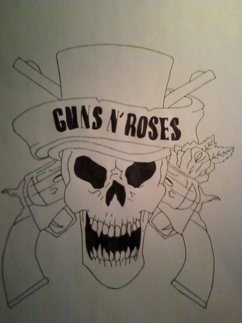 Guns N' Roses Skull by MikeFg on DeviantArt