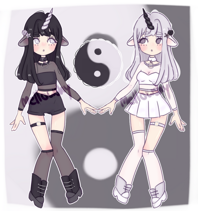 YinYang Unicorn twins adopt [CLOSED] thank you!! by