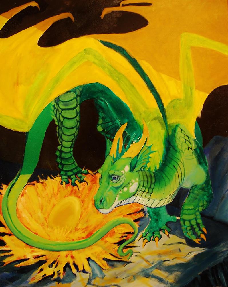 Dragon Treasure work in progress by PaintedKelpie