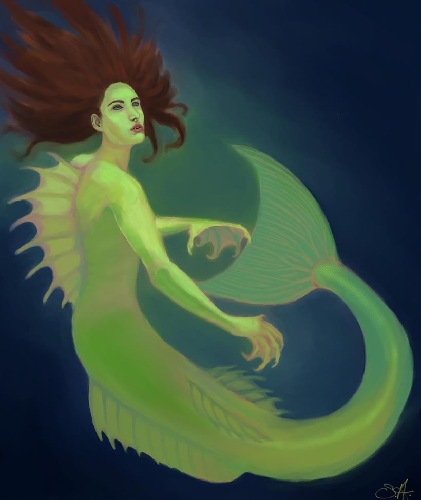 Mermaid by PaintedKelpie