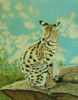 Serval by PaintedKelpie
