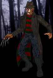 Freddy's Coming for Ya' by vstraydogstrutv