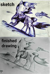 Littlepip : sketch and drawing by RSD500