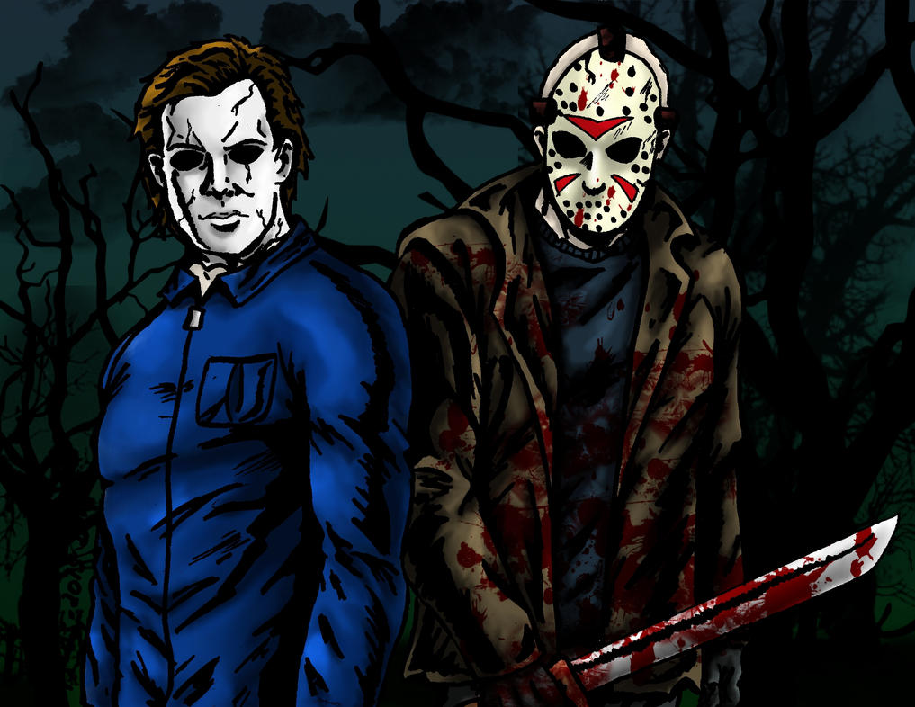 Michael Myers Jason Voorhees By Zombilein