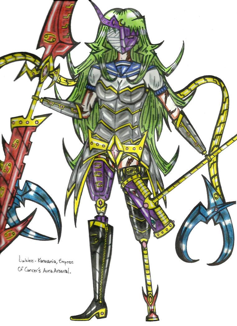 Karavania Of Cancer's Aura Arsenal by vulcanknight