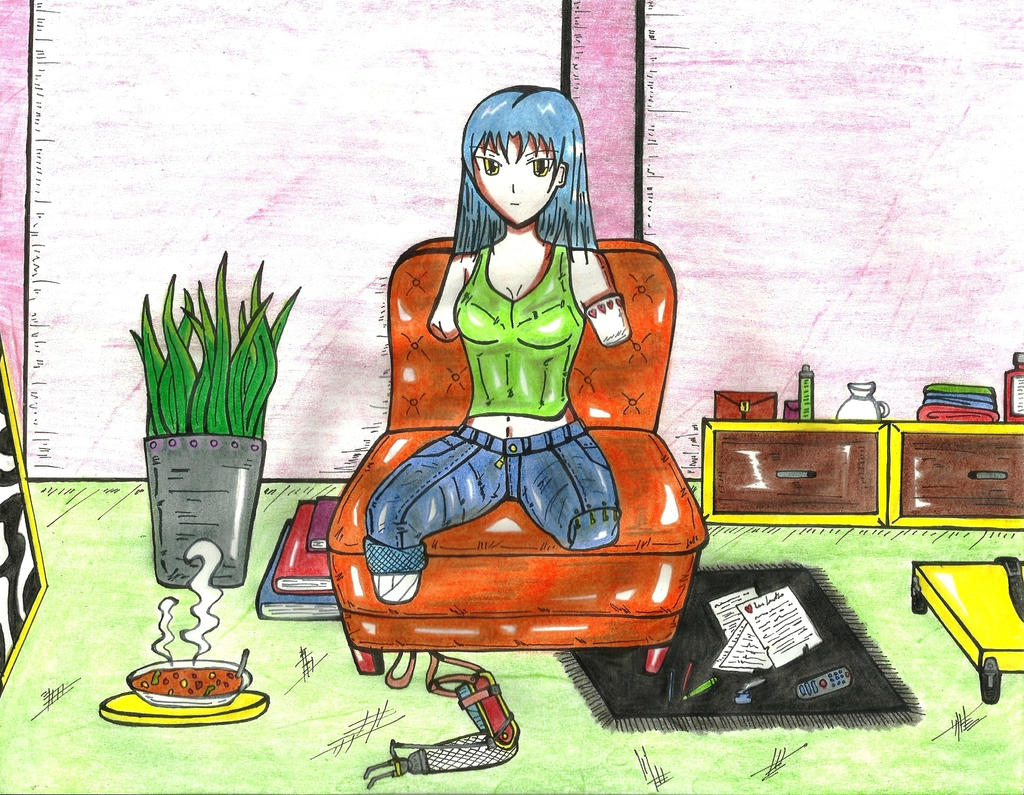 Quad Amputee On Chair For DRagon-ArtWorks By Vulcanknight