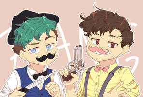 Youtubers : Les Moustaches by pacaora