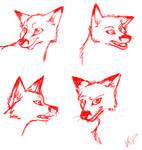 Cartoon Fox Practice by Azara-Fox