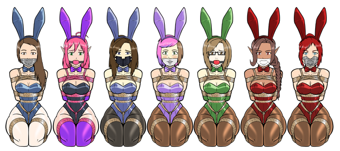 bunny lineup, dungeon edition