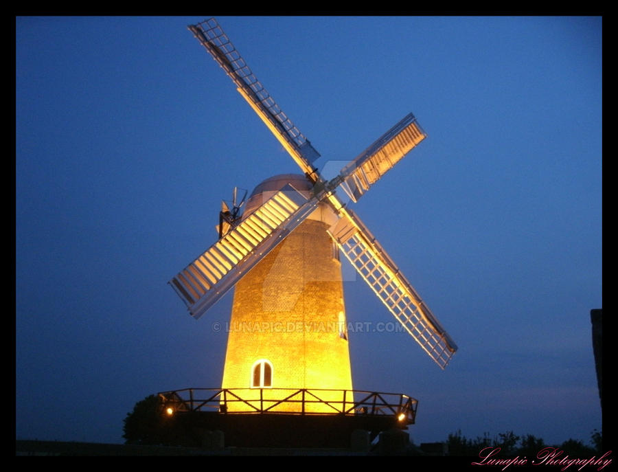 Wilton Windmill At Night by Lunapic