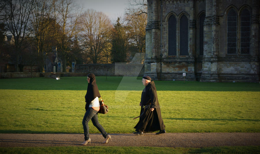 Spring Walk at Salisbury Cathedral by Lunapic
