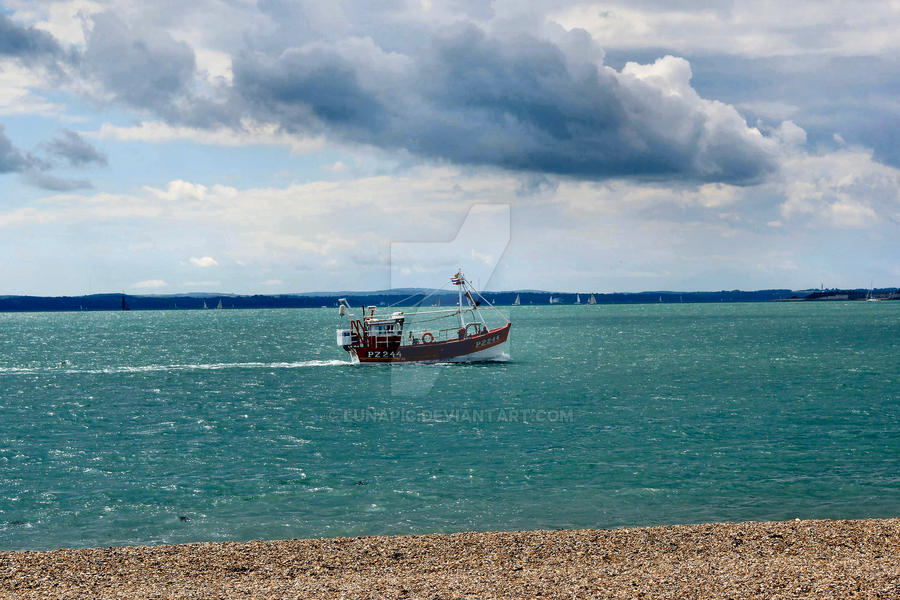 A Boat @ Southsea by Lunapic