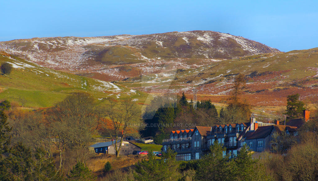 Above Lake Vyrnwy by Lunapic