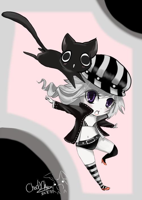 flying cat by Choc0Chu